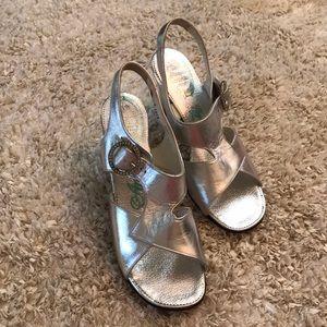 Vintage silver shoes